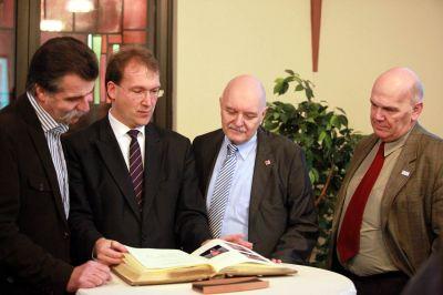 Heiner Brand, Thorsten Herrmann, Dirk Metz und Rolf Mai
