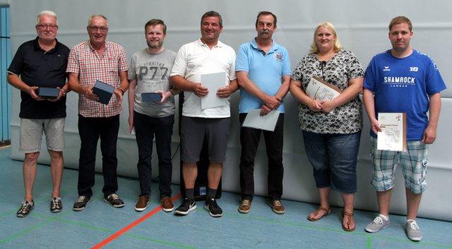 Eckhard Hanewald - Wener Winkler - Frank Siess - Uwe Rinschen - Willi Dries - Jennifer George und Marcel Creutz